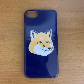 メゾンキツネ(MAISON KITSUNE')のメゾンキツネ iPhone8ケース スマホケース ネイビー ブランド(iPhoneケース)