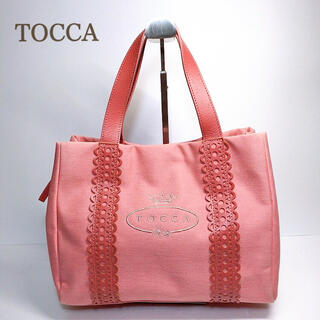 TOCCA - 美品 TOCCA トッカ トートバッグ ハンドバッグ キャンバス ピンク