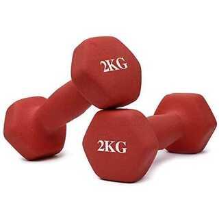 2KG x 2個 赤Thinksea ダンベル セット「4組1kg/2kg/3k