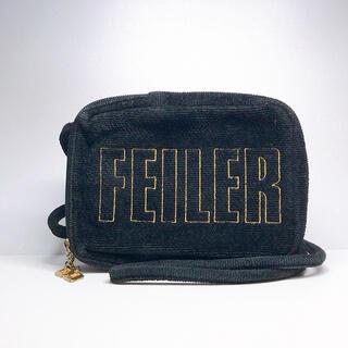 FEILER - 人気 FEILER フェイラー ショルダーバッグ ポシェット 斜め掛け ブラック