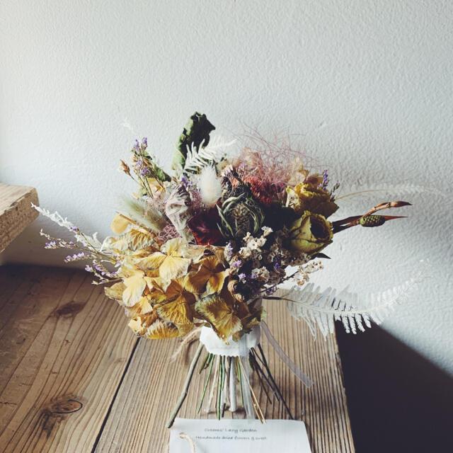shabby chic dried flowers 5 くすみマカロンカラー ハンドメイドのフラワー/ガーデン(ドライフラワー)の商品写真