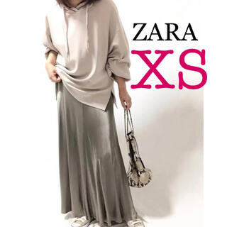 ZARA - ZARA サテン風ミディ丈スカート 新品 ザラ