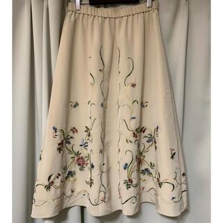 花柄刺繍スカート フレアスカート ANAYI IENA ROPE
