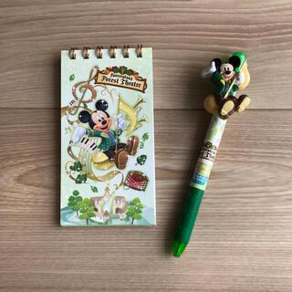 Disney - ディズニーランド ニューファンタジーランド メモ帳 ボールペン ミッキー
