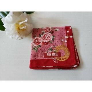 ピンクハウス(PINK HOUSE)のお値下しました✩ピンクハウスの薔薇の花柄の大判サイズのハンカチ(レア)(ハンカチ)