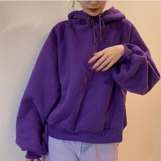 フリークスストア(FREAK'S STORE)のhoodie purple(トレーナー/スウェット)