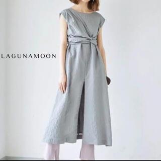 LagunaMoon - 【LagunaMoon】アシンメトリーサッカーウエストサッシュワンピース