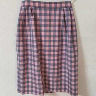 miss ashidaチェックタイトスカート(ひざ丈スカート)