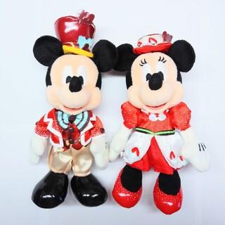 ディズニー(Disney)のディズニー テーブルイズウェイティング ぬいぐるみバッジ ミッキー ミニー(ぬいぐるみ)