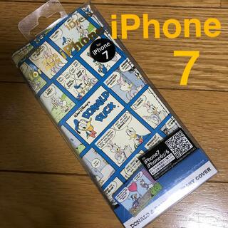 ディズニー(Disney)の新品 iPhone7 スマホケース 手帳型 ドナルドダック(iPhoneケース)