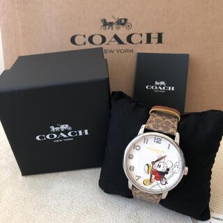 コーチ(COACH)の付属品有り新品★COACH ロープクライム ミッキーマウス グランド ウォッチ(腕時計)