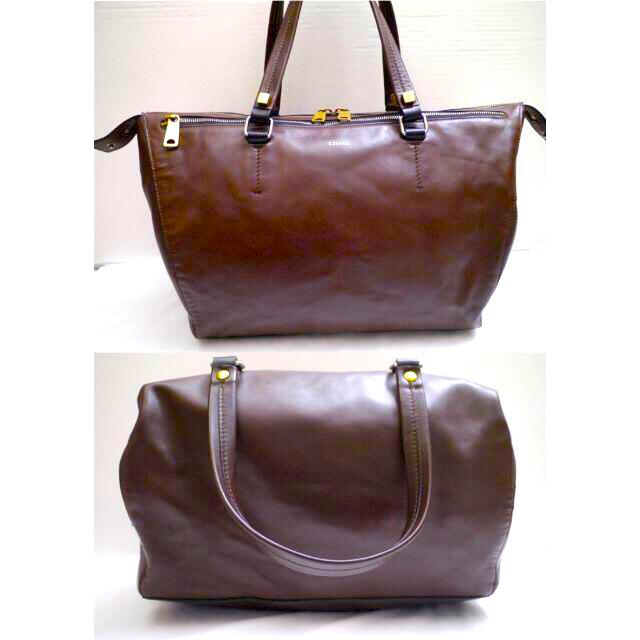 celine(セリーヌ)の美品◆CELINE セリーヌ HORIZONTAL DUFFEL レザー バッグ レディースのバッグ(トートバッグ)の商品写真