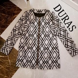 デュラス(DURAS)のDURAS ノーカラージャケットコート(ノーカラージャケット)