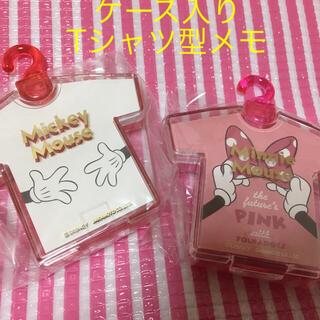 ディズニー(Disney)のTシャツ型メモ ミッキー&ミニー (ノート/メモ帳/ふせん)