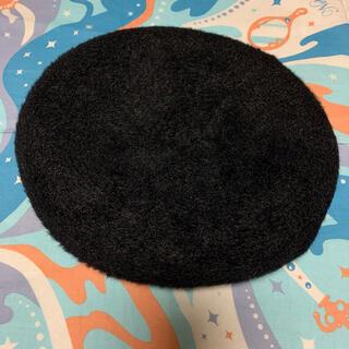 センスオブプレイスバイアーバンリサーチ(SENSE OF PLACE by URBAN RESEARCH)のアンゴラライクベレー BLACK(ハンチング/ベレー帽)