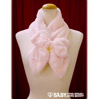 BABY,THE STARS SHINE BRIGHT - 定価  7452円●送料無料●BABY●リボンパールファーマフラーお嬢様ピンク