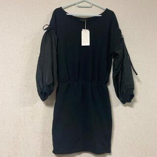 rienda - 新品タグ付き☆定価7425円☆rienda☆リボン袖透けタイトワンピース