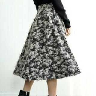 新品ツイードフレアスカート(ひざ丈スカート)