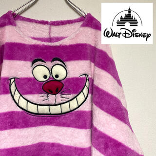 ディズニー(Disney)のディズニー チェシャ猫フリース モコモコ 不思議の国のアリス チシャ猫(トレーナー/スウェット)