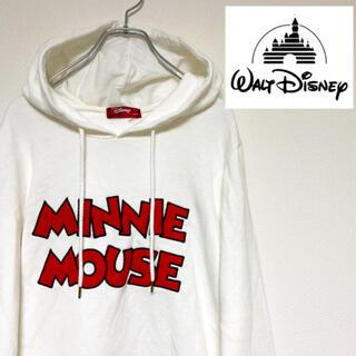 ディズニー(Disney)のディズニー ミニーマウスパーカー スウェット トレーナー ロゴ キャラ リボン(パーカー)