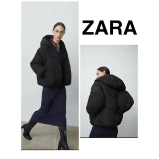 ZARA - ZARA【今季完売】フード付き パフジャケット ダウン  洗濯可◎