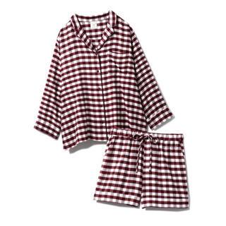 gelato pique - ジェラートピケ ネルギンガムチェックシャツ ショートパンツ SET