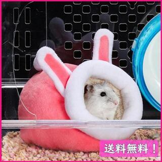 363 ぬくぬくうさ耳 ピンク色 中サイズ 1個 ハムスター(小動物)