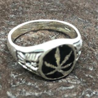 大麻オーバル 印台 シルバー925リングシグネット メンズ 銀 ハンコギフト(リング(指輪))