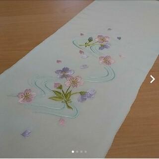 半襟 刺繍 白(和装小物)