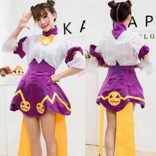【新品】白紫 スカート アイドル風 コスプレ衣装(衣装)