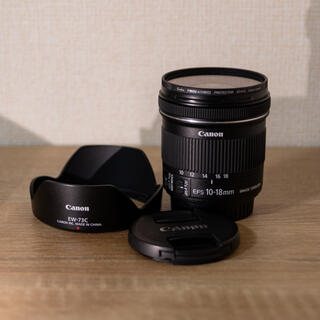 Canon - Canon EF-S10-18mm F4.5-5.6 IS STM+EW-73C