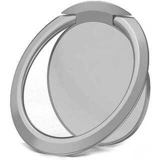 超薄型 亜鉛合金製リングホルダー スマホリング バンカーリング  シルバー(モバイルケース/カバー)
