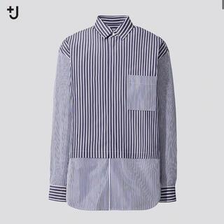 UNIQLO -  スーピマコットン オーバーサイズシャツ (長袖・ストライプ)UNIQLO