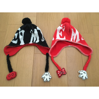 Disney - ミッキー ミニー  キッズ ニット帽 帽子