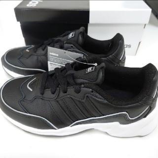 アディダス(adidas)の新品アディダス スニーカー 黒 ブラックサイズ23cm(スニーカー)