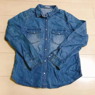 ジーユー(GU)のGU デニムシャツ Sサイズ(シャツ/ブラウス(長袖/七分))