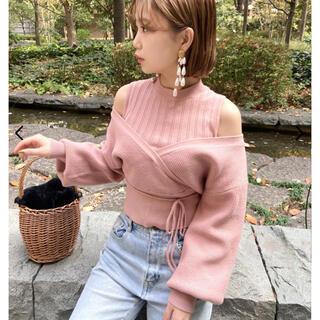 Lily Brown - リリーブラウン  レイヤードニットトップス