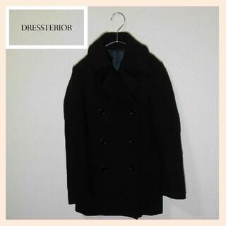 ドレステリア(DRESSTERIOR)の定価約6万 DRESSTERIOR ロングコート ダブル ウール サイズ36(ロングコート)