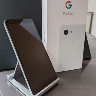 グーグル(Google)のGoogle Pixel 3a Clearly White SIMロック解除済(スマートフォン本体)