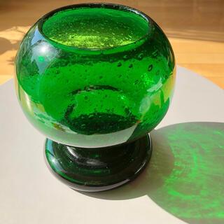イッタラ(iittala)のカイフランク SARGASSO グリーン Nuutajarvi グラス(置物)