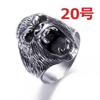 迫力抜群 海外限定 ゴリラ エイプ シルバー リング 指輪 20号(リング(指輪))