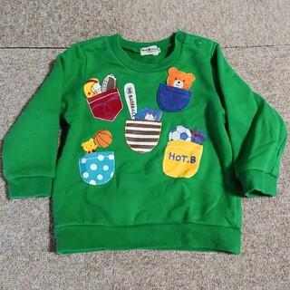 ホットビスケッツ(HOT BISCUITS)の美品 ミキハウス ホットビスケッツ 長袖 トレーナー 90cm(Tシャツ/カットソー)