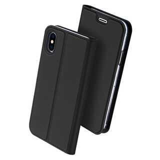 【D23】iPhoneX/XS(ブラック)手帳型マグネット付き(iPhoneケース)