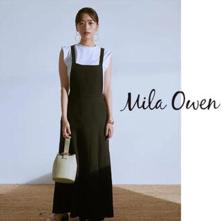 Mila Owen - Mila Owen フレアスカートサロペットワンピース