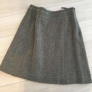 オールドイングランド(OLD ENGLAND)のOLD ENGLAND ヘリンボーンツイードウールスカート(ひざ丈スカート)