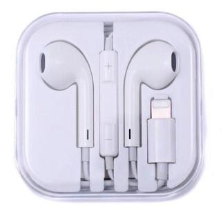 イヤホンlightning対応アップルiPhoneマイクリモコン機能付(ヘッドフォン/イヤフォン)