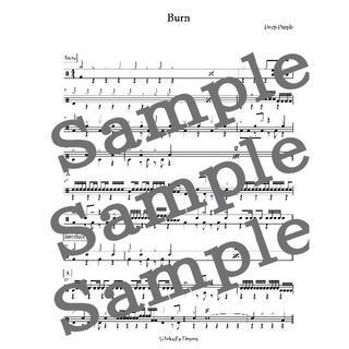 Burn(Deep Purple)ドラム 楽譜 譜面 スコア(ポピュラー)