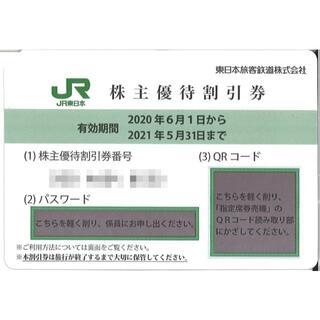 東日本旅客鉄道 株主優待券 運賃・料金4割引き券(2枚) 期限:21.5.31(鉄道乗車券)