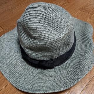 帽子 ぼうし ハット リボン ブラック ペーパー(麦わら帽子/ストローハット)