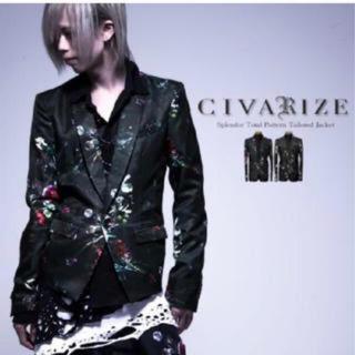 CIVARIZE 花柄テーラードジャケット 色付き